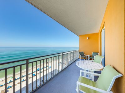Photo for Beachfront family condo w/ Gulf view balcony & shared pools/hot tub/lazy river!