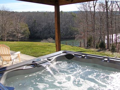 Photo for Hot-Tub, Fire-Pit, 3 fireplaces, Fenced yard, Dogs allowed, Pool Table, Canoes