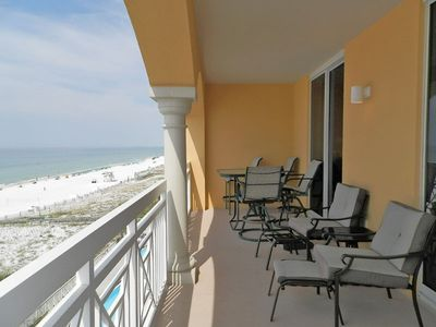 Photo for Large Beachfront Condo in Gated Resort. Private Balcony. Free Beach Service Included!
