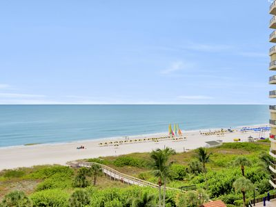 Photo for Inviting beachfront condo w/ wraparound balcony, heated pools & hot tub