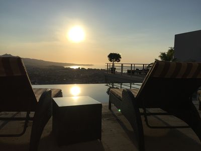 Sunrise from the infinity pool -  steps from Casa Dulce Vida.