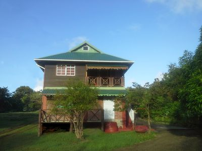 Photo for Authentic St.Lucian Style  upstairs Apartment close to Beach & Gros Islet