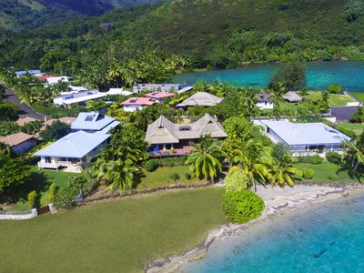 Photo for Blue Lagoon Moorea | 3 bedrooms Beachfront villa with a plunge pool
