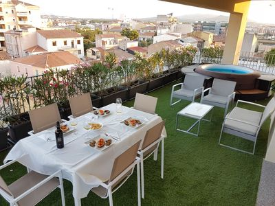 Photo for LUXURY PENTHOUSE with spa and large terrace in the historic heart of Olbia 15