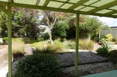 Native gardens at the rear of the property