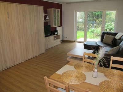 Photo for 2014 renovated terrace apartment, modern, 800m to the beach, child friendly