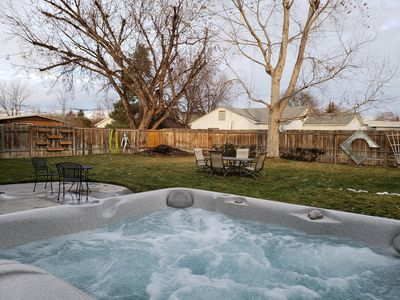 Photo for SouthEast Boise Home. Pet Friendly, Furnished, Spacious, Patio, Yard, Hot Tub.