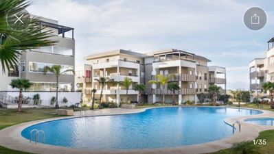 Photo for Apart 90m2 high standard with pool