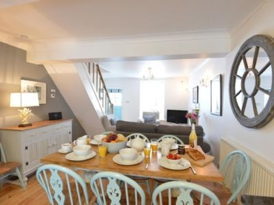 "Photo for Sleeps 8, stylish, ""Downalong"" St Ives cottage. Luxurious family & pet friendly with wifi."