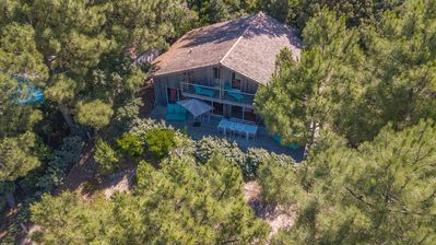 "Photo for Superb Villa ""Tramontane"" in wood panoramic view - Pyla"