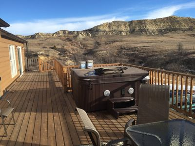 Hot Tub and House Deck to badlands view