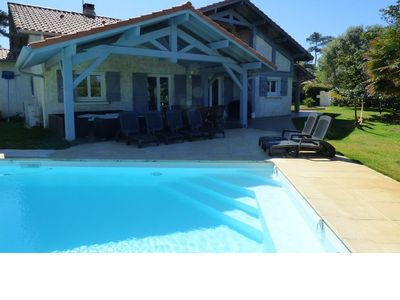 Photo for Villa 190m² with heated pool 5min from the beach