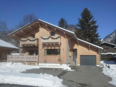 Photo for New chalet with balcony, terrace, outstanding views close to centre and ski lift