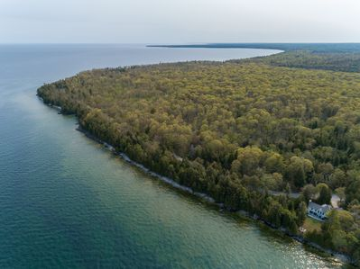 We're the 1st home north of Cave Point and Whitefish Dunes Parks. Great hiking!