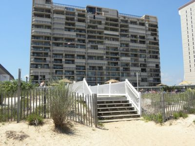 Photo for Ocean Front Condo on 11th floor Panoramic ocean and beach views! Outdoor Pool and Tennis Court
