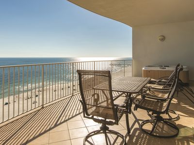 Photo for Turquoise Place 1005C - Luxury on the Gulf! Enjoy the views from your private balcony hot tub!