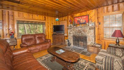 """Photo for Whispering Pine Cabins """"Castle"""" - Hot Tub - Fireplace - Upper Canyon"""