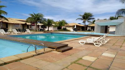 Photo for Front sea, 6 people, pool, security 24hs, garage, furnished, ac animals.