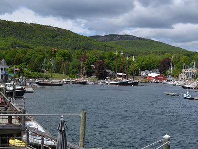Photo for Luxury And Comfort both inside and outside on always beautiful Camden Harbor.