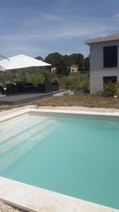 Photo for NEAR CANNES, NEW CONTEMPORARY VILLA CLIMATE 10 PERS WITH SWIMMING POOL