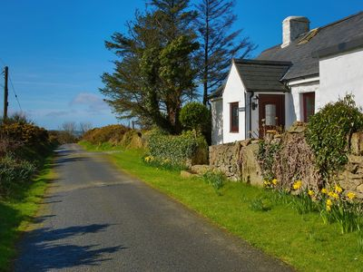 Photo for Whitewashed Hillside Cottage With A Spectacular View At Garn Fadryn