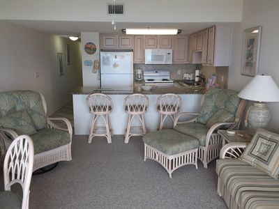 Beautiful West End oceanfront condo with free WiFi access on Ocean Isle Beach.