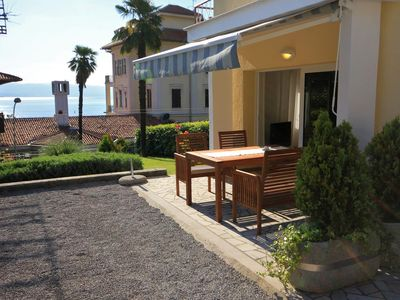 Photo for Two bedroom apartment with terrace and sea view Lovran (Opatija)