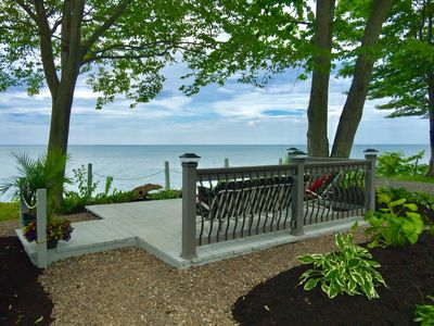 Enjoy your morning coffee on the beautiful private deck