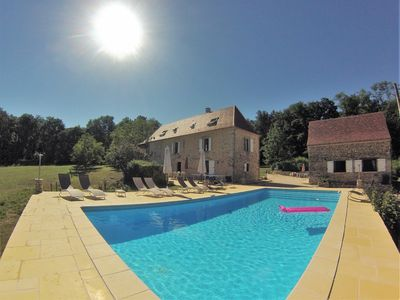 Photo for Beautiful typical French Manor with private swimming pool