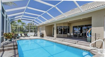 Photo for Walking Distance to Cape Harbor Luxury Estate Size Gulf Access Pool/Spa Home