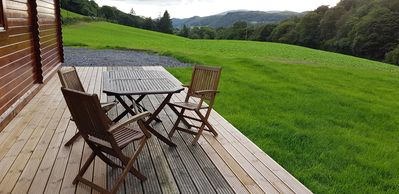 Out door seating with valley view