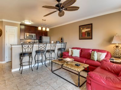 Photo for Gulf-front and dog-friendly condo, w/shared pool, hot tub, & ocean views!