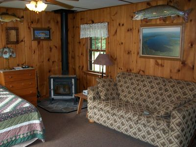 Pet friendly studio with fireplace and air conditioning
