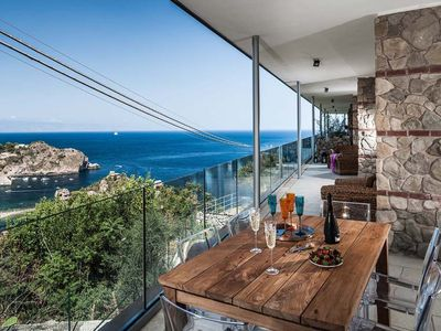 Photo for Taormina renal with pool, holiday let in Taormina with pool, apartment for rent in Taormina