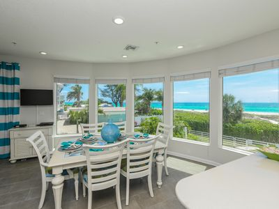Photo for Treat yourself to a beach getaway! Beachfront ! Amazing views! Steps to Gulf!