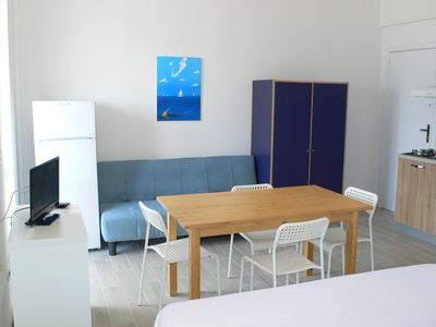 Photo for Studio Baia Verde (CTE1) 100 meters from the sea, with balcony overlooking the sea
