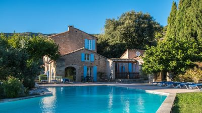 Photo for Holiday home in ancient masonry at foot of Mont Ventoux, big pool - La Treille