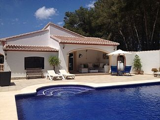 Pool and covered terrace in the secluded garden