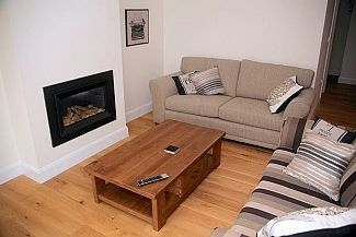 Lounge with gas burning log fire