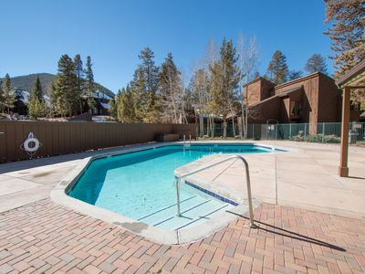 Photo for Updated retreat w/ shared pool/hot tub, & mtn. view balcony- bus to slope