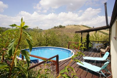Your own secluded private pool and decking area.