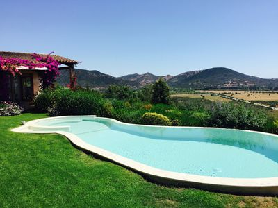 Photo for Independent villa with private swimming pool, garden and sea views