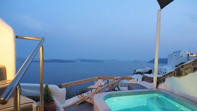 Photo for AQUA  TERRA LOFT HOUSE, HOT PLUNGE POOL, CALDERA VIEW