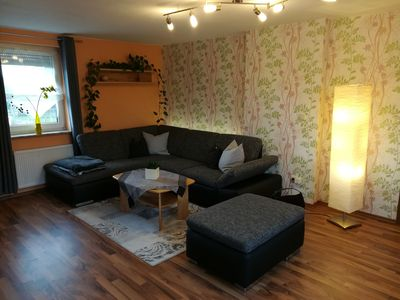 Photo for 80sqm apartment on the ground floor - 500m from the Ederradweg