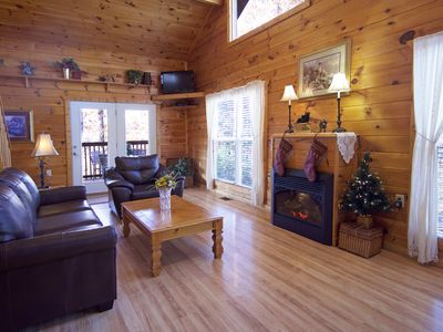 Photo for Gatlinburg/Pigeon Forge Area*Secluded, Luxury Cabin, Hot Tub,Fireplace, King Bed