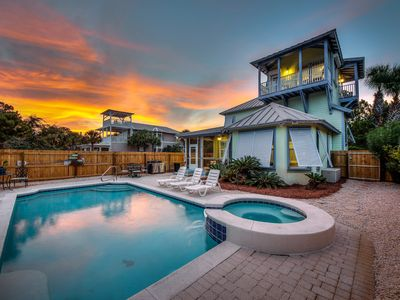 Photo for 300 Yards to the Gulf! Private Pool plus Hot Tub. Bikes
