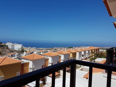 Photo for Villa Roque del Conde 3 with fantastic sea view, Terrace, Pool, Wifi, SAT-TV