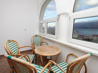 Photo for Two bedroom apartment with terrace and sea view Vinjerac, Zadar (A-5811-d)