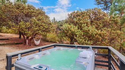 "Photo for Secluded ""Ivanhoe"" Cabin with a Hot Tub & Magnificent Views"