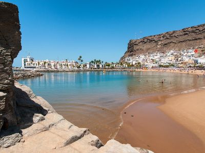 Photo for MOGAN LAS PALMERAS BEACH APARTMENT WITH BALCONY IN BEAUTIFUL PUERTO DE MOGAN